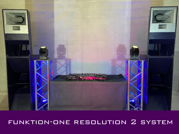Funktion one Sound System Rental